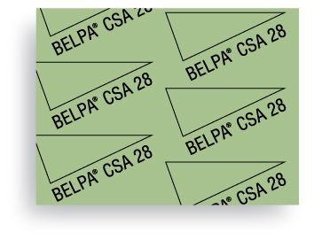 Carton Comprimido Prensado libre de amianto Belpa CSA 28