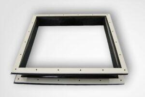 compensador textil embridado rectangular