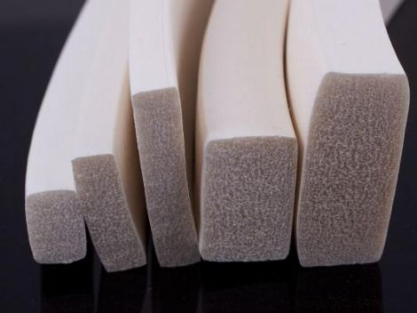 Perfil Silicona Esponjosa Adhesiva